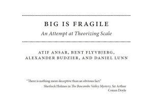 """Research Article: """"Big Is Fragile,"""" published in the Oxford Handbook of Megaproject Management"""